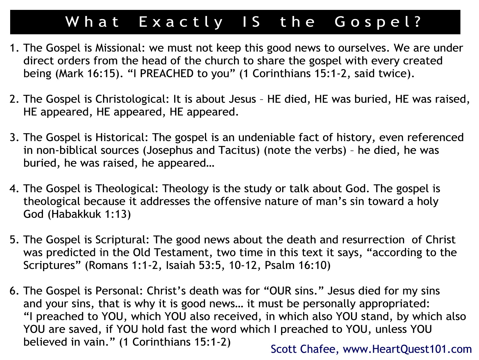What IS the Gospel Slide